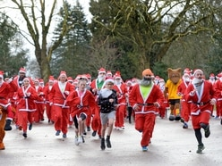 More than 100 turn out for Wolverhampton's annual Santa run