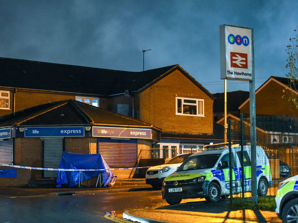 Two men stabbed at Black Country train station
