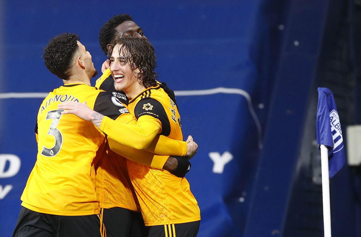 Wolverhampton Wanderers' Fabio Silva celebrates (PA)