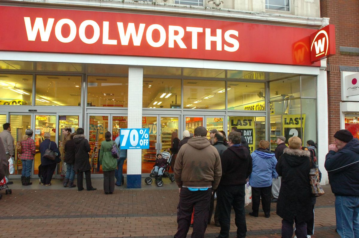 Dudley's Woolworths during its last days.